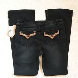 Imperial Star Girls Flare Jeans Size 16 NWT